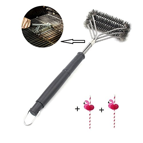 45,5/cm poign/ée extra longue 3/spirales Toro Brosse /à barbecue pour barbecue BBQ Brosse de nettoyage avec poils en acier inoxydable solide