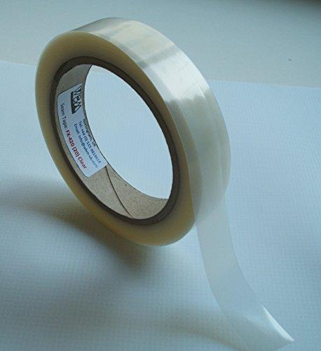 Nahtdichtband WBM FX-420 - Hot Melt - wasserdichte PVC-beschichtete Stoffe - Reparaturband - 20 Meter - Aufbügeln (durchsichtig), 20mm Breite)
