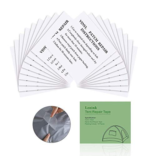 Cayyly Tent Repair Tape, 20 Pcs Tent Repair Patches Clear Inflatable Repair Patches Waterproof Repair Kit for Tent, Awnings, Inflatable Swimming Pools Bed Boat Castles Kyacks Hot Tub Mattresses