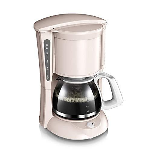 QYQ Haushalt Borosilikatglas Kaffeekanne Automatische frisch gemahlene Kaffeemaschine Tropfentyp Poröse Düse für Home Office Sammeln (Farbe : Pink)