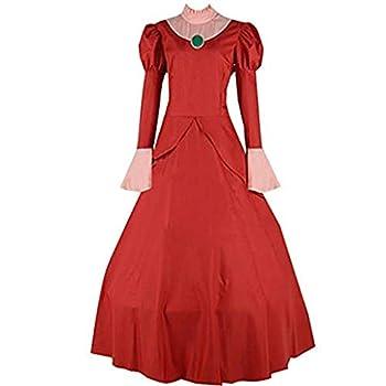 Cinderella Wicked Stepmother Lady Tremaine red Dress Cosplay Costume  XXXL