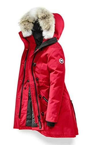 369 Luxury Canada Daunenjacke Sweater Goose Damen Kensington Parka Feather Winterjacke Schafffell Jacke Kapuze (XXL, Red)