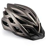 Shinmax Casco de Bicicleta, Casco de MTB con Visera Desmontable, montaña con luz de Advertencia LED, Casco de Ciclismo BMX equitación Casco Bici Hombres y Mujeres Adultos CE, Certificado Stvzo