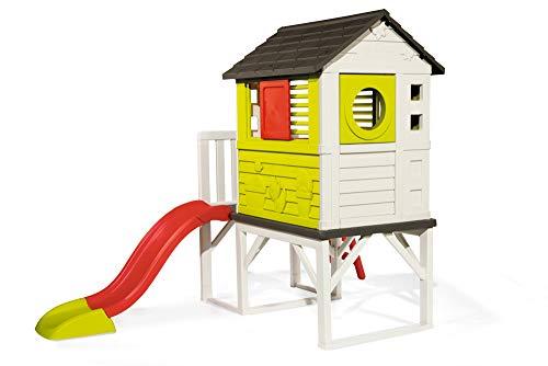 Smoby – Stelzenhaus - Spielhaus mit Rutsche, XL Spiel-Villa auf Stelzen, mit Fenstern, Tür, Veranda, Leiter, für Jungen und Mädchen ab 2 Jahren - 2