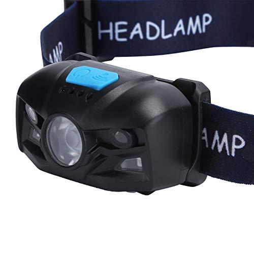 Linterna frontal LED, 500 lm Luz frontal con detección de dedos Ergonómico Inteligente para montañismo para acampar para pescar para senderismo