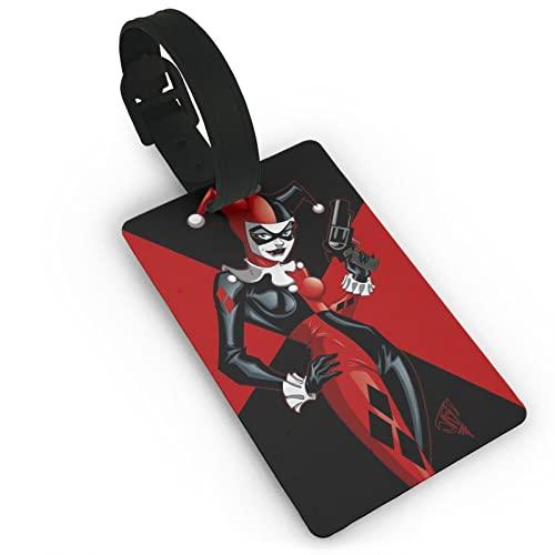 Etiquetas del equipaje del cartel de la película de Harley Quinn, etiquetas del bolso del equipaje de la caja de cuero etiquetas de