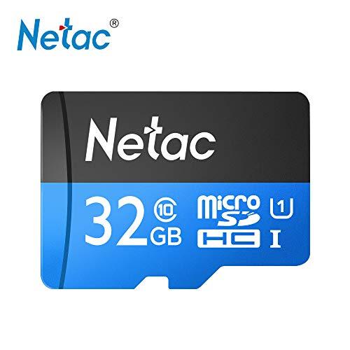 Festnight Netac P500 Classe 10 32G Micro SDHC TF Cartão de Memória Flash de Armazenamento de Dados UHS-1 de Alta Velocidade até 80 MB/s (32GB)
