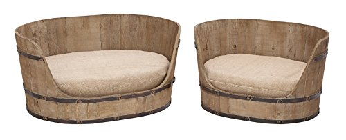 Deco 79 Classic Style Pet Bed Set with Handmade Wood