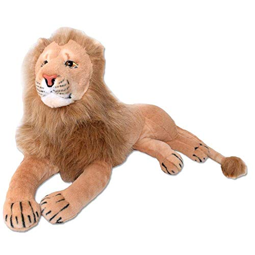 TE-Trend XL Deko Löwe Lion Großkatze Kuscheltier Kinder Plüsch 70cm Stofftier braun