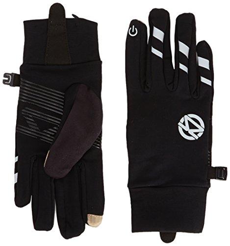 Zensah Smart Running Gloves with Touch Screen Feature, Black, Medium