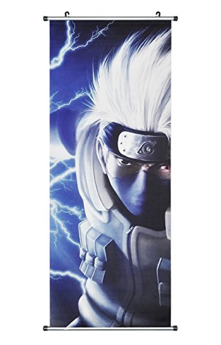CoolChange Großes Naruto Rollbild / Kakemono aus Stoff Poster, 100x40cm, Motiv: Kakashi Hatake