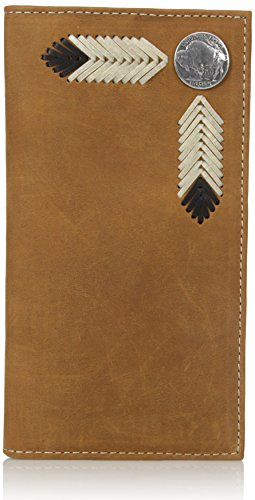 M&F Western Buffalo Nickel Rodeo Wallet Wallet Medium Distressed Brown One Size