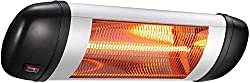 R.W.FLAME Electric Patio Heater, Electric Infrared Heater, Indoor/Outdoor Wall-Mounted Patio Heater, Carbon Fiber, Automatic Overheat Protection, Waterproof, 1500W