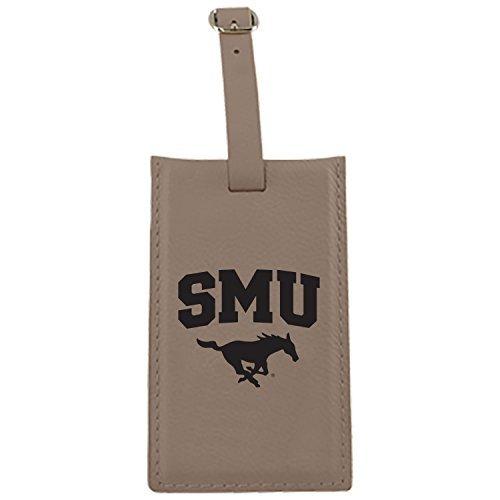 LXG, Inc. Southern Methodist University -Leatherette Luggage Tag-Tan