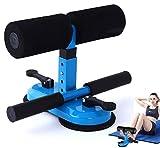 OLT-EU Dispositivo Sit-up Bar - Cuatro Altura Ajustable Equipo de Entrenamiento de Abdominales Doble Ventosa,Adecuado para Fitness, Yoga, Estiramiento Muscular Ejercitador Abdominal. (Azul)