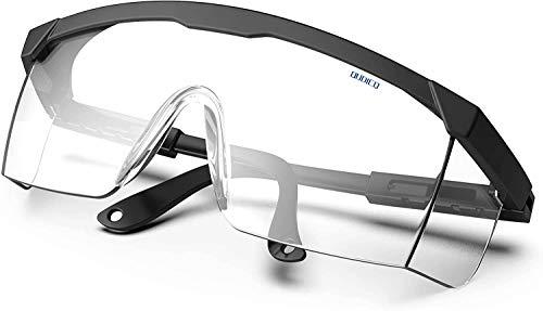 Qudicq Plegable Gafas Protectoras, Gafas de Seguridad, Gafas a Prueba de Polvo, para Uso Industrial, Agrícola o de Laboratorio