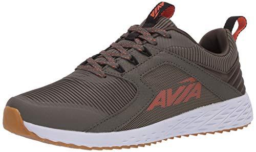 AVIA Men's Lifestyle Sneaker, Grape Leaf/Black/Flame/Whisper Gum 10 medium US