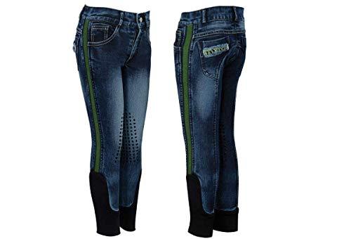 NETPROSHOP kinderen en junior jeans rijbroek stout met siliconen print