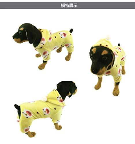 Warme jassen en jassen voor honden, geel verdikte kerstmuts petdog water winter warm outfit grote arm koud weer jassen grote middelgrote kleine gewatteerde jumpsuit kat fleece Chihuahua koud, XL, Foto