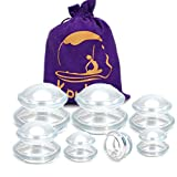 Silicone Cupping Therapy Set 7 Cups (3 Sizes,Does not Include The X-Large) Professional Massage Suction Cup Vacuum Cupping Kit Anti Cellulite, Pain Relief & Injury Recovery (Pack of 7,Small Set)