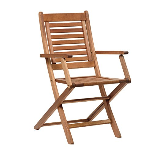 Amazonia Chaise 2-Piece Patio Foldable Armchair | Eucalyptus Wood | Ideal for Outdoors and Poolside, 25Lx20Wx36H, Light Brown