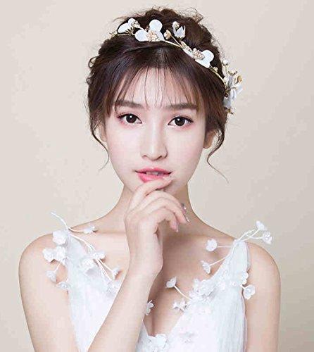 &Hoofddeksels Bloemenkrans Handgemaakte bruidsjurk Wit bloem hoofdband haarband Bruiloft sieraden Bruiloft accessoires hoofd bloem