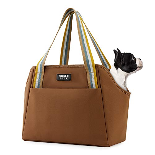 NOBLE DUCK Small Dog Carrier Purse with Pockets, Portable Small Dog/Cat Soft-Sided Carrier with...