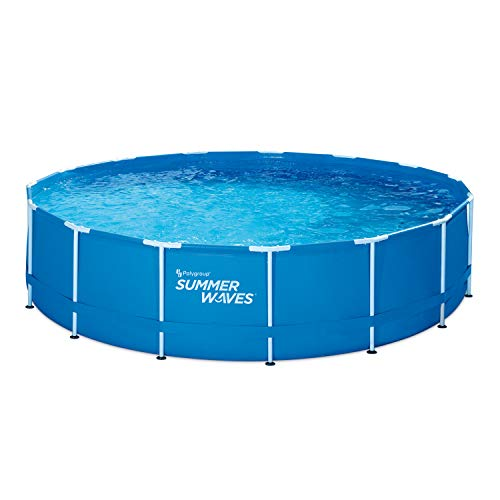 """Summer Waves 15' Active Frame Above-Ground Pool, 15'x42"""" -  Polygroup Trading, P2001542F"""