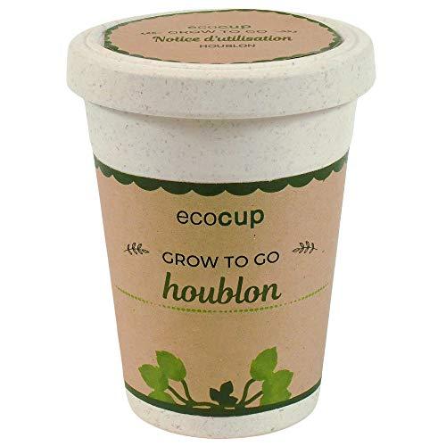Feel Green Ecocup, Houblon, Idée Cadeau (100% Ecologique), Grow-Your-Own/Kit Prêt-à-Pousser, Plantes Dans Coffee Cup 10 x 8 cm, Produit En Autriche