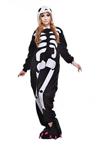 NEWCOSPLAY Unisex Adult Halloween Animal Pyjamas Cosplay Costume (Skeleton, XL)