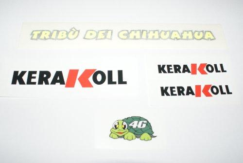 Rapro Graphics Valentino Rossi Kerakol Helm en vizier stickers