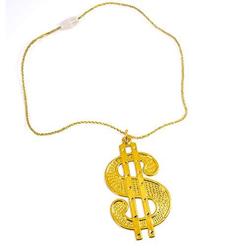 German Trendseller® - 1 x Dollar - Kette Gold ┃ 44 cm ┃ Extra Fett ┃ Rapper ┃ Gangster ┃ USA ┃ 1 Stück
