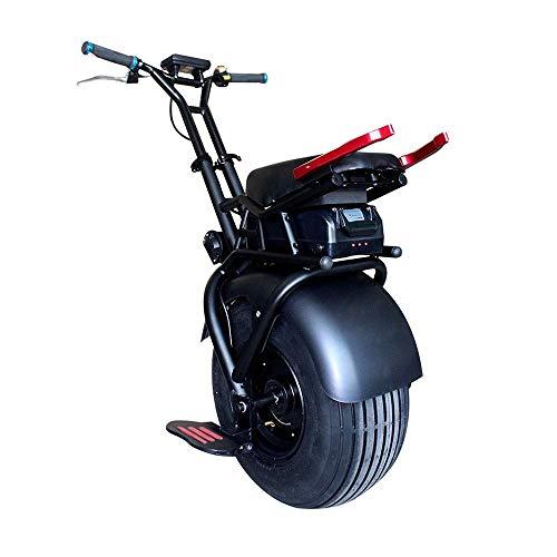 YUHT Monociclo eléctrico 1000W Monociclo de neumático Grande Monociclo de Scooter eléctrico autoequilibrado de una Rueda para Exteriores para Adultos, Negro, Monociclo de 18 Pulgadas