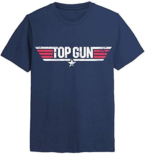 Top Gun - Distressed Logo - Camiseta Oficial Hombre