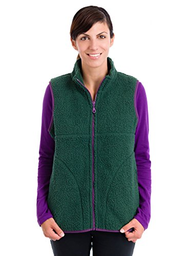 Life is Good Women's Cozy Sherpa Vest (Woodsy Green), XX-Large
