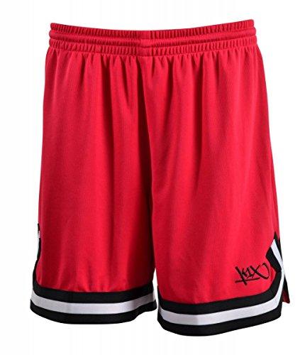K1X Hardwood Double X Shorts mk2 Basketball kirschrot-schwarz-weiß Damen kirschrot/schwarz/weiß, S