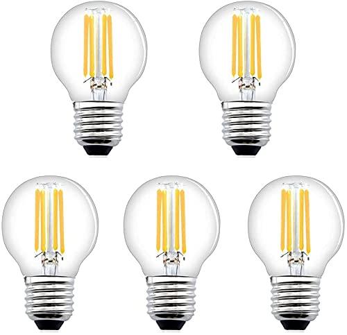 Bonlux Bombilla LED E27 G45 de 4 W G45, regulable, bombilla E27 G45, 40 W, reemplazo halógeno, 2700 K, blanco cálido, 5 unidades