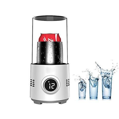 Electrónico Enfriador Botellas Vino Taza, Mini Refrigerador Actualizado, Copa De