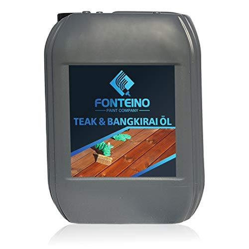 Teak Bangkirai Holzöl Holzschutz Teakholz Pflegeöl Holzpflegeöl farblos 5L