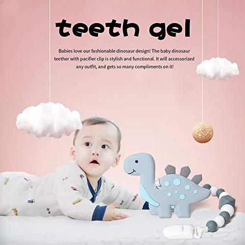 PoeticHouse Baby Spielzeug Aus Silikon Dinosaurier, Baby Beißring Spielzeug Zahnen Schnuller Kauen Ringe Für Babys, Kleinkinder Und Kleinkinder - Weiches Silikon, BPA-frei standard
