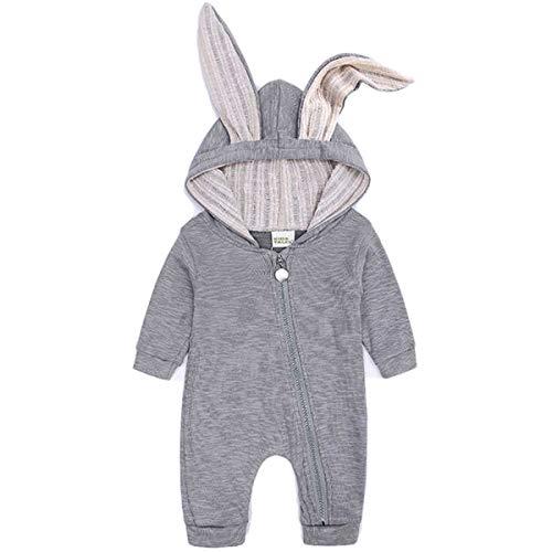 【 うさ耳キュート 】monoii 赤ちゃん 着ぐるみ うさぎ ロンパース あったか ベビー 服 ハロウィン 衣装 ウサギ カバーオール 仮装 コスプレ d470