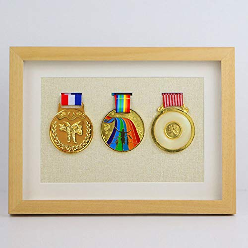 ZYHA Picture Framing Direct Black,Medal Display Box Medal Display Case Frame To Display Medals,Picture Framing Direct Black Walnut Color To Display War/Military/Sports Medals