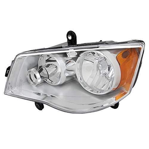 For 2008-2016 Chrysler Town & Country | Dodge Grand Caravan Headlight Headlamp Left [Driver] Side