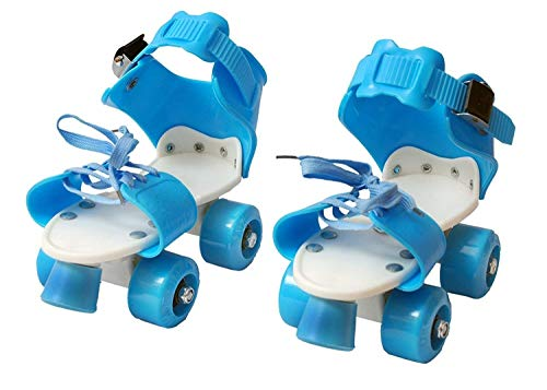 HaRvic Adjustable Skates 4 Wheel Skating Shoes Inline Skating Shoes with Front Break for Kids Age Group 4-12 Years