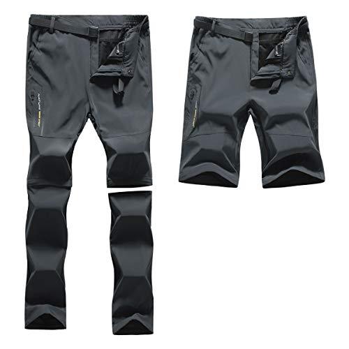 Amissz Pantaloni Trekking Uomo Primavera Estate Outdoor Pantalone da Lavoro, Traspirante Funzionali Arrampicata Softshell Pantaloni Escursionismo Caldo All'aperto