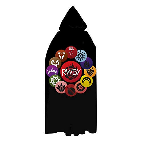 RW-by Ruby Rose Halloween Cloak Unisex Long Hooded Robes Cape Witch Costume for Kids Adults Kids S: 23.5'