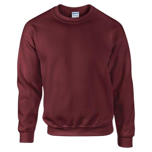 GILDAN Suéter DryBlend, de cuello redondo, hombre, marrón, small