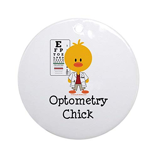 Yilooom Optometry Chick Optometrist Ornament (Round) Round Holiday Christmas Ornament Hanging Christmas Decoration Gift Ceramic Ornament Xmas Special Keepsake Porcelain Art Display - 3' In Diameter