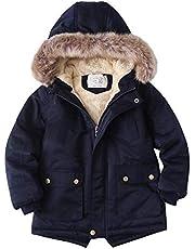 子供服 ガールズコート ジャケット 男の子 女の子 防寒 フード付き ポケット付き アウター 男女兼用 裏起毛 あったか ふわふわ もこもこ 軽量 可愛いカジュアル
