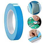 1 Roll 20mm x 25m Double Sided Thermal Adhesive Tape, High Durability Electrical Thermal Tape for Heat Press, Coolers, Heat Sink, Heatsinks LED Strips, Computer CPU, GPU